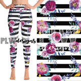 SUCCULENT FLORAL - YOGA - FULL LENGTH CUSTOM LEGGINGS