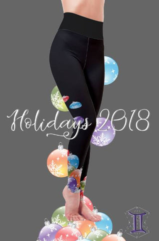 DIPPED IN ORNAMENTS ~ CUSTOM CHRISTMAS LEGGINGS