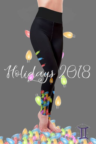DIPPED IN LIGHTS ~ CUSTOM CHRISTMAS LEGGINGS