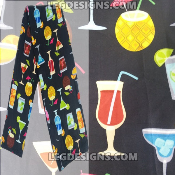 "Custom Design Print Leggings ""Its 5 O'Clock Somewhere"""