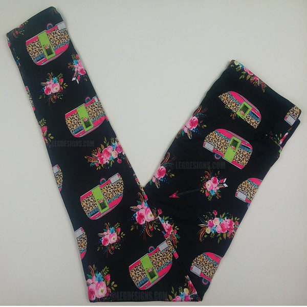 GLAMPER CAMPERS CUSTOM DESIGN YOGA BAND LEGGINGS