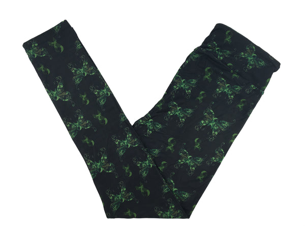 SUPPORT OUR TROOPS CAMO BUTTERFLY RIBBONS YOGA BAND LEGGINGS