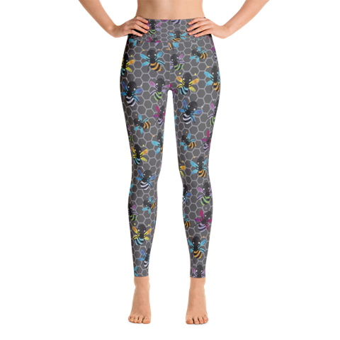 BEE HIVE ~ CUSTOM DESIGN BUTTER SOFT 92/8 200GSM LEGGINGS
