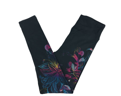 GRADIENT FLORAL SWEEP CUSTOM YOGA BAND LEGGINGS