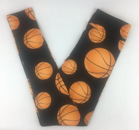 BASKETBALL - BUTTERY SOFT CUSTOM YOGA BAND LEGGINGS
