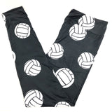 VOLLEYBALL THEMED CUSTOM YOGA BAND LEGGINGS