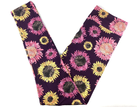 FALL SUNFLOWERS CUSTOM DESIGN YOGA BAND LEGGINGS