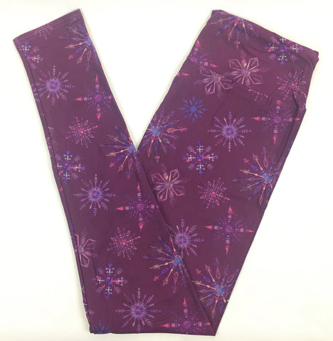 WINTER SNOWFLAKE DREAM CUSTOM YOGA BAND LEGGINGS
