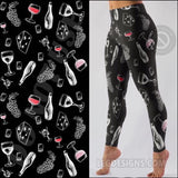 "Buttery Soft Custom Design ""MOM'S NIGHT OUT"" Yoga Band Leggings"