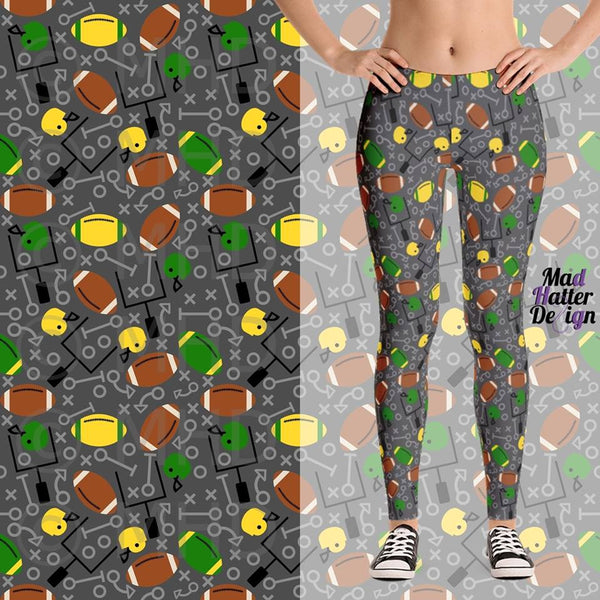 GREEN BAY PACKERS THEME CUSTOM DESIGN LEGGINGS - PREORDER