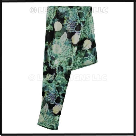 """SCALEY SKULLS "" EXCLUSIVE Limited Edition Custom Design Yoga Band Legging"