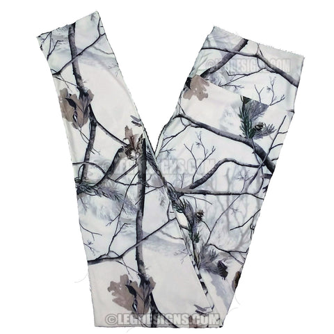 """WINTER CAMO"" EXCLUSIVE CUSTOM DESIGN YOGA BAND LEGGINGS"