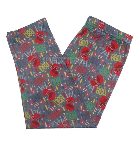 """BBQ TIME"" SUMMER & CAMPING INSPIRED CUSTOM CAPRI LEGGINGS"