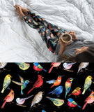 PRETTY BIRDS SONG BIRD INSPIRED CUSTOM DESIGN YOGA BAND LEGGINGS