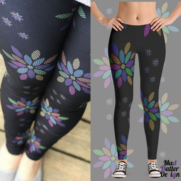 Buttery Soft Custom Design Floral Chic Print Leggings