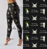 """MILITARY HEROES"" EXCLUSIVE CUSTOM DESIGN YOGA BAND LEGGINGS"