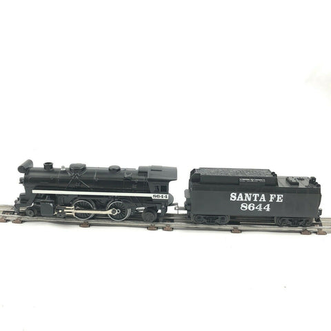 027 LIONEL 8644 SANTA FE COLUMBIA 4-4-2 STEAM LOCO WITH SMOKE & WHISTLE TENDER