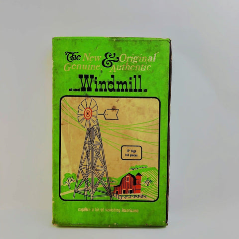 "Vintage The New & Original Genuine & Authentic 17"" Steel Windmill Kit COMPLETE"