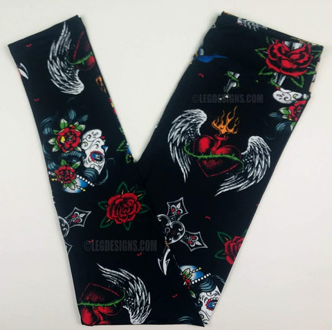 TATTOO YOU - LIMITED EDITION CUSTOM DESIGN YOGA BAND LEGGINGS