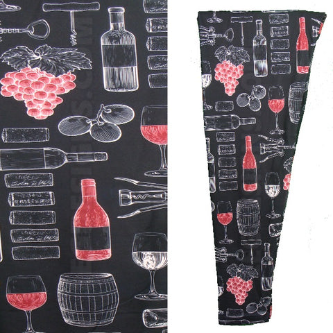"Buttery Soft Custom Design "" WINE TIME "" Yoga Band Leggings"