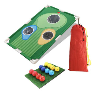 Golf Cornhole Game 2 Board Deluxe Set - Golf Chipping Games