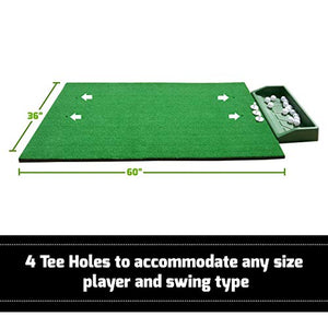 3' x 5' Premium Quality Golf Practice Hitting Mat with Large Ball Tray (Training Set)
