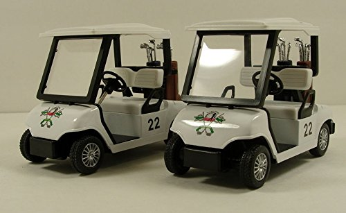 Pull Back Action Golf Cart 2 Set - Fun Toy Golf Carts for Kids