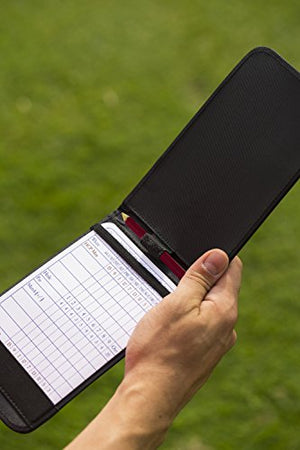 Golf Leather Scorecard Holder - Golf Scorebook Holders
