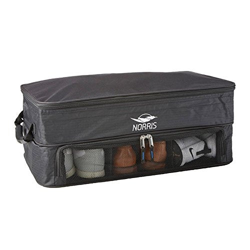 Extra Large Golf Trunk Organizer - Holds up to 3 Pairs of Shoes