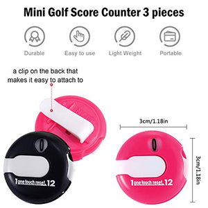 2 Pieces Golf Score Counter - Set of Golf Score Keepers