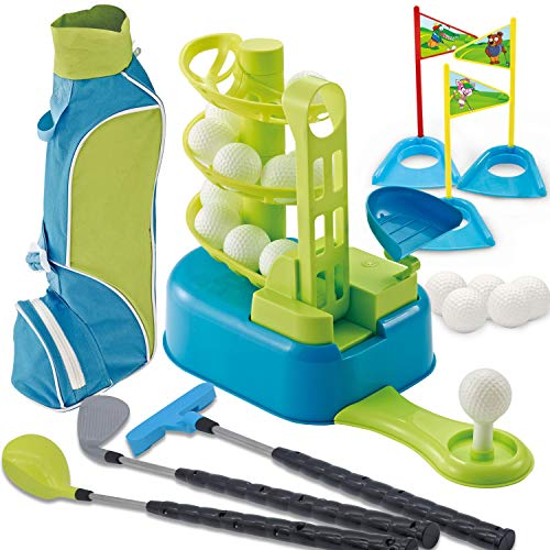 Kids Golf Club Toy Set with Bag & Golf Trainer ⛳ Kids Golfing Set (Ages 3-8)