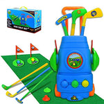 Toddler Golf Club Set – Golf Cart with Hitting Mat & Kid Toy Golf Clubs