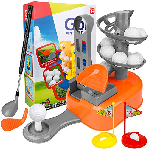 Kids Mini Golf Trainer - Kids Golf Gift for Ages 4, 5, 6,