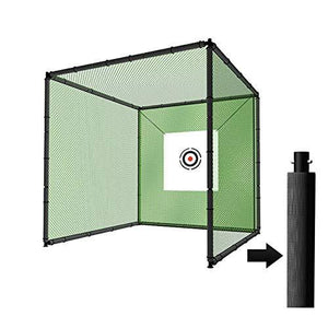 Huge Steel Metal Golf Cage (10ft x 10ft x 10ft) with Hitting Nets and Targets - The Golfing Eagles