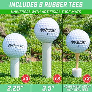 Rubber Golf Tees 9 Pack - Golf Rubber Tees for Any Golf Practice Mat