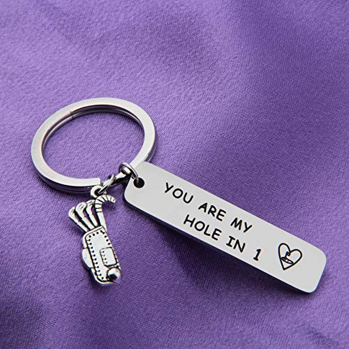 Golfer Keychain Gift - You're My Hole in One - Golfer Valentines Day Gift