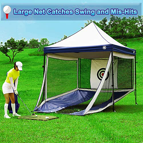 Golf-Hitting-Nets Full Size Gazebo - Indoor and Outdoor Golfing Practice