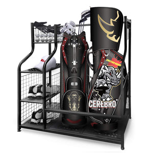 Large Golf Storage Organizer - Golf Bag Storage Stand for Garage