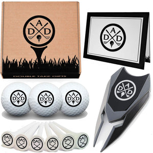 Fathers Day 12 Piece Golf Gift Set - Dads Day Divot Tool, Balls & More