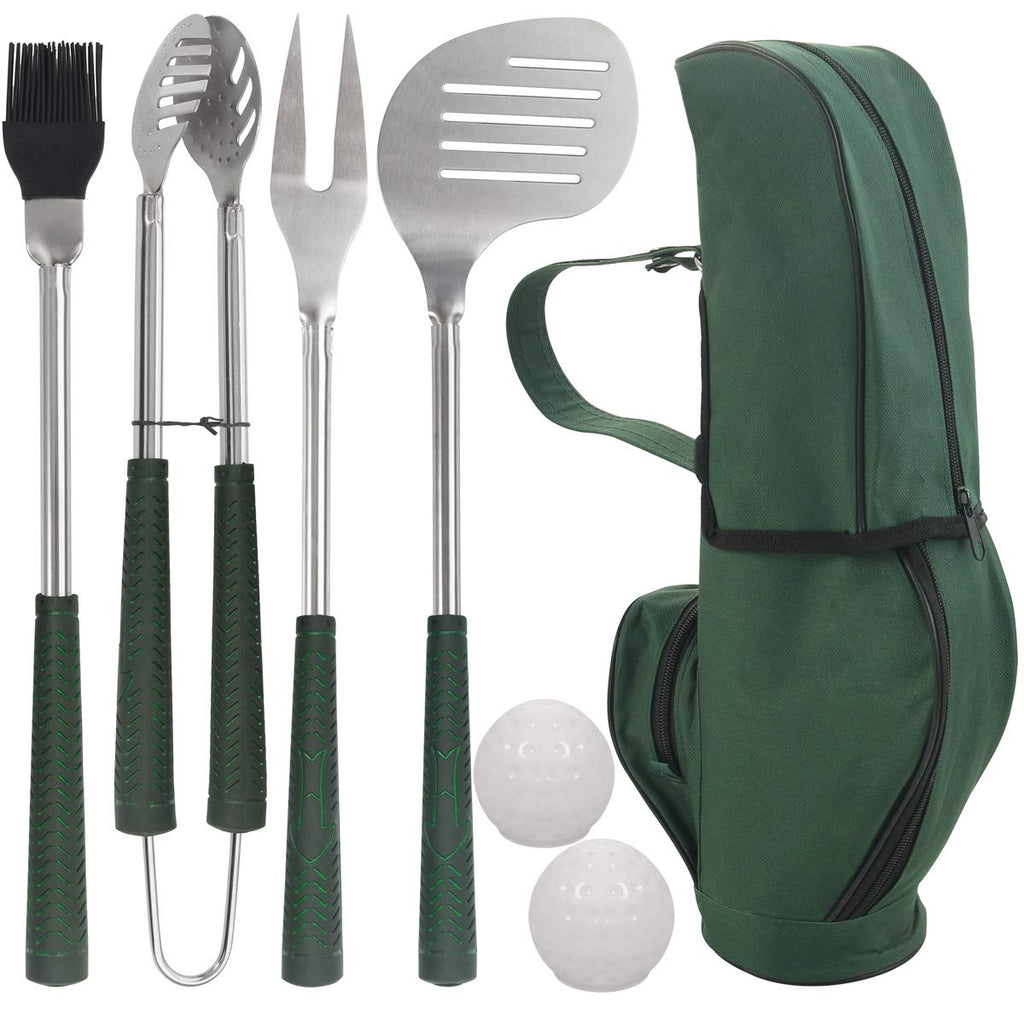Golf-Club Style BBQ Grill Accessories Kit - Christmas Golf Gift for Dad