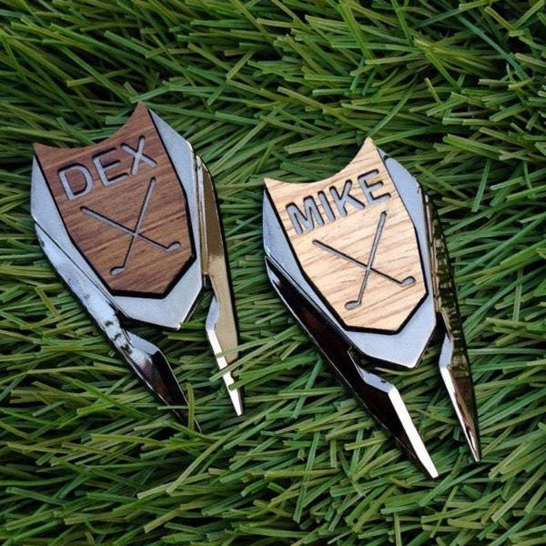 Personalized Golf 3 in 1 Ball Marker Divot Tool - Fathers Day Golf Gift - The Golfing Eagles