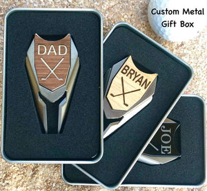 Personalized Golf 3 in 1 Ball Marker Divot Tool - Fathers Day Golf Gift