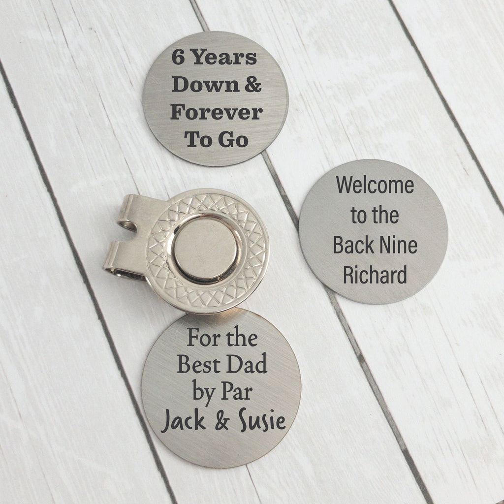 Personalized Golf Ball Marker & Hat Clip - Fathers Day Golf Gift - The Golfing Eagles
