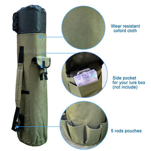 Waterproof Fishing Rod & Tackle Storage Bag - The Golfing Eagles