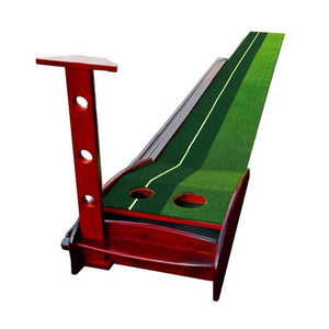 Wooden Indoor Putting Green - Golf Putting Practice Mat