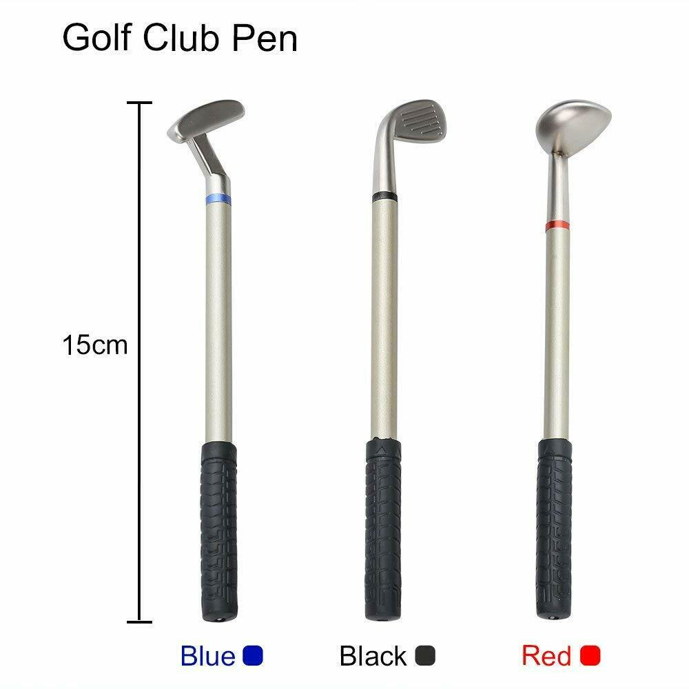 Deluxe Golf Pens with Golf Bag Holder on Base