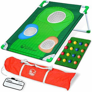 2020 New Backyard Golf Cornhole Game Full Set with Balls, Mat & Scorecard - The Golfing Eagles