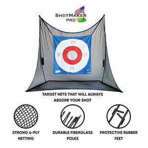 High Quality Heavy Duty 10X7 Golf Practice Net w/ Turf, Tees, and Golf Mat - The Golfing Eagles
