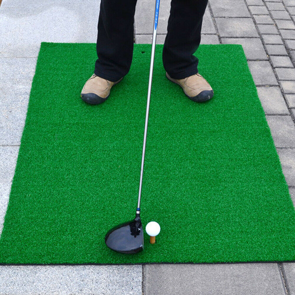 "Backyard Golf Mat 39"" x 49"" Residential Training Turf Mat W/Tee"