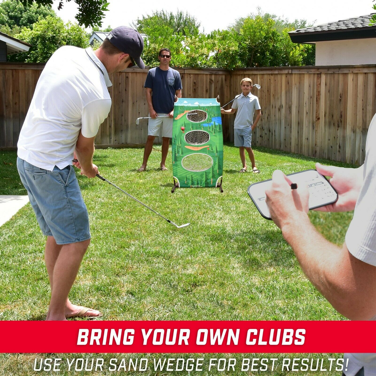 Vertical Backyard Golf Game | Golf Cornhole Chipping - The Golfing Eagles